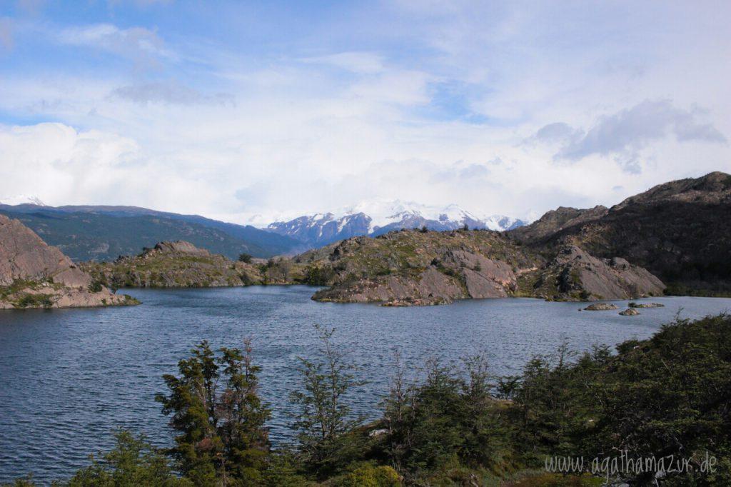 Auf dem Weg zum Grey Gletscher kommt man an wunderschönen blauen Seen vorbei. Genau so habe ich mir Patagonien vorgestellt, wie aus dem Bilderbuch!