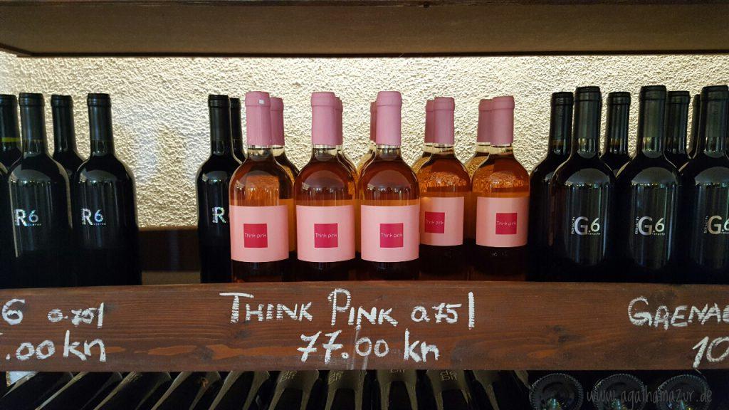 Im Weingut Bibich in Plastovo